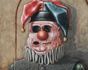 Lowbrow Pop surrealism limited edition art print by Pete Gorski titled: The Fool Knows Not of What He Speaks