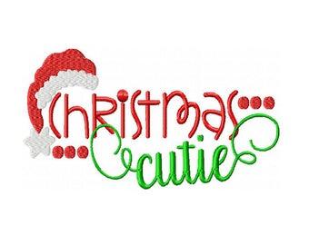 Christmas Cutie Machine Embroidery Digital Download