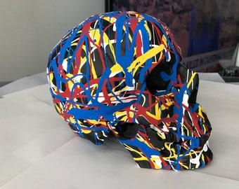 Pollock Abstract Skull