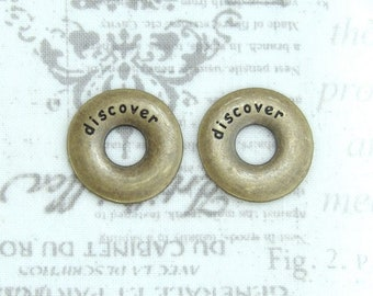 Antiqued Brass Discover Pendant Travel Pendant Antiqued Brass Discover Charm Pendant Finding
