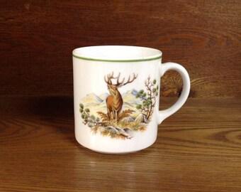 Bavarian Bareuther waldsassen , woodland mug, elk , quail, Bavaria Germany