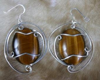 Queen Layla Tigereye Earrings