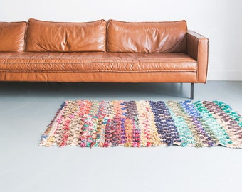 Vintage Boucherouite rug from Morocco 02