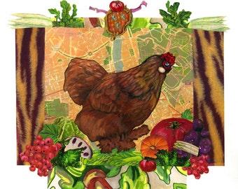 Tuscan Cochin Chicken print