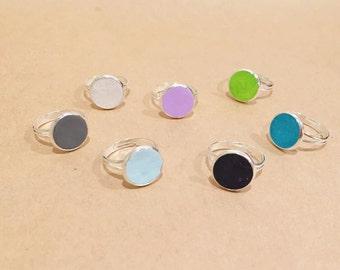 Colour Pop Rings, Polymer Clay, Colourful, Handmade