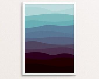 Ocean Wall Art, Ocean Print, Ocean Landscape, Ocean Printable, Ocean Art Print, Abstract Printable Art, Minimalist Print, Art Printables