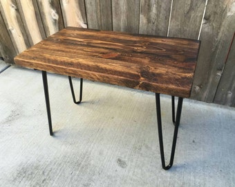 Small honey  side table, end table, reclaimed wood, craft furniture, night stand