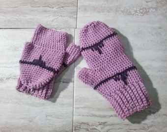 Convertible Mittens Crochet Pattern **PDF Pattern Only**  Flip Top Gloves, Fingerless Gloves, Fold Down Mitts, Instant Download