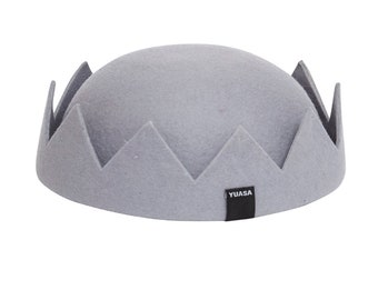 Jughead Crown Hat 100% Wool - Cool Grey