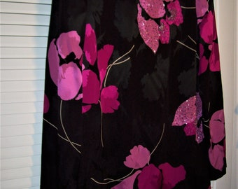 Dress 14, Evening Dress by Jill Richards. Pure Silk w Bugle Beads, Lined Gorgeous Evening Party Dress.  - see details