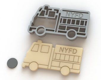 Custom Firetruck Cookie Cutter