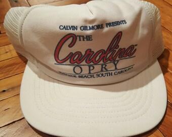 Vintage Trucker Hat Vintage Hat Snapback Hat Carolina Opry Hat 1980s Hat Mesh Hat Foam Hat Vintage South Carolina White Hat Calvin Gilmore
