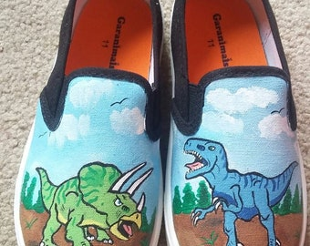 Dinosaur Painted Shoes