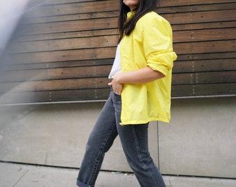 Vintage Yellow Windbreaker Jacket 70s/ 80s