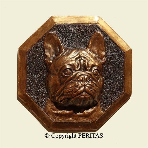 hand patinated bronze color french bulldog dog bouledogue. Black Bedroom Furniture Sets. Home Design Ideas