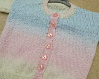 Pastel Rainbow Knit Cardigan