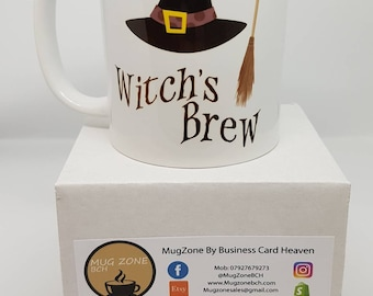 Witches Brew Novelty Mug. In for Halloween get your witches brew mug today! All our mugs are sent in a smash proof box. Order yours today!
