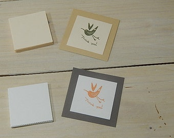 10 x Card Mounts 5 x 5cm 30% Recycled Vibrant Cardstock 400g White Ivory