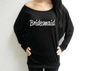 Bridesmaid Sweatshirt, Bridesmaid Sweatshirts, Bridesmaids Sweatshirts, Long Sleeve Bridesmaid Shirts, Off Shoulder Bridesmaid Shirts, Flowy