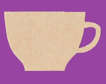 A coffee cup blank support
