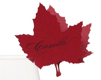 Maple Leaf Place Cards - autumn, leaf, tree, nature, canada
