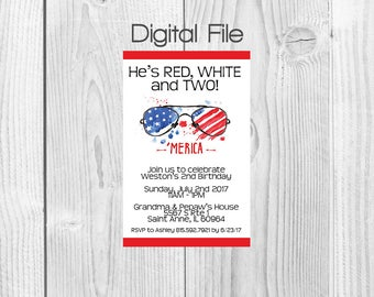 4th of July Party Invitations (DIGITAL FILE)