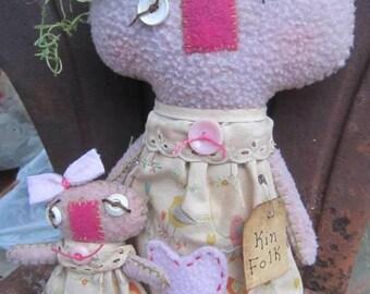 KIN FOLK DOLLS~ Mother Gift~ Made to Order~ Girl Nursery Room Decor~ Personlized~ Ragdoll~ Handmade Mother Gift~ Personalized Gift~ Nursery~