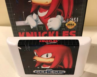 Knuckles the Echidna (in Sonic the Hedgehog 1) Sega Genesis Reproduction Game