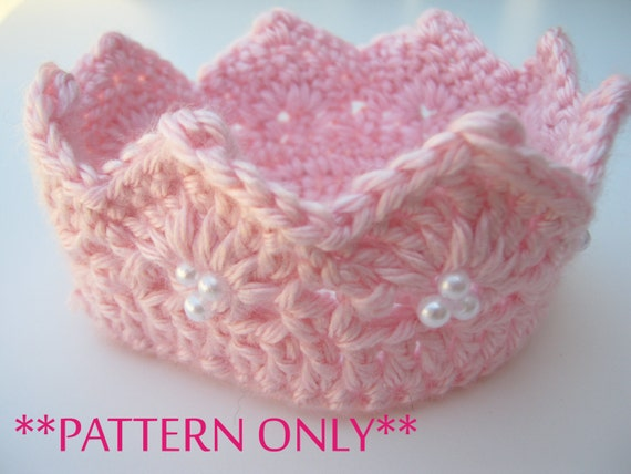 Princess Crown Crochet Pattern For Infant Through Preteens