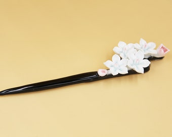 Ceramic Jewelry-hair pin, blossom, floral