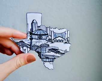 Houston Sticker, Texas Sticker, State Sticker