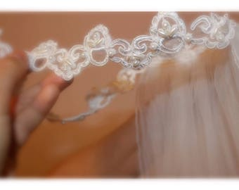 Headband Wedding Veil, Boho Wedding Veil, Bridal Veils, Wedding Veils, Wedding Accessories, Custom Bridal Veils, Cathedral Veil, Lace Veil