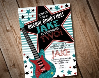 DIY Printable Rockstar Birthday Party Invitation