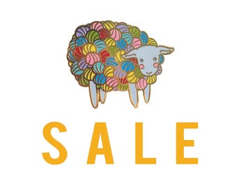 SECONDS SALE Yarn Sheep Enamel Pin Lamb Enamel Pin - lamb pin- knitting pin - lamb pin lapel pin hat pin