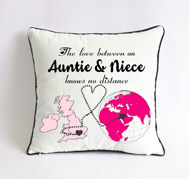 Auntie niece pillow case uk world map gift aunt mothers day zoom gumiabroncs Choice Image