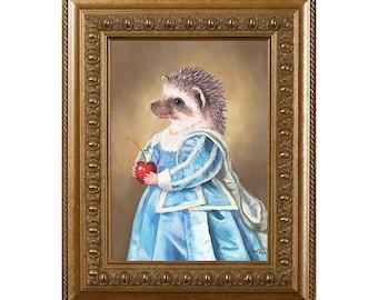 Mrs Hedgehog, Magnet, Gifts for Hedgehog Lovers, Hedgehog Gifts, Hedgehog in Clothes