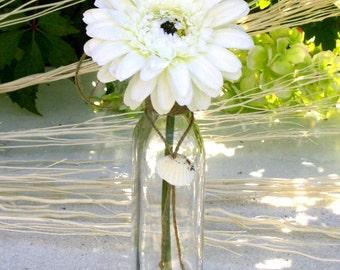 Maritime Hanging Glass Bottle Vase