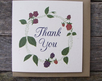Blackberries Thank You Card