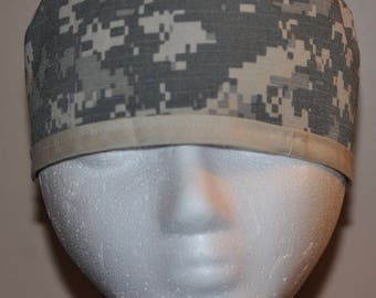 Men's US Army Digital Camo/ACU Camo Scrub Cap/Hat - One Size Fits Most