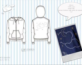 """hoodie """"Moon"""""""