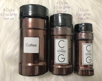 Polyester Glitter - Shaker Jar - Coffee