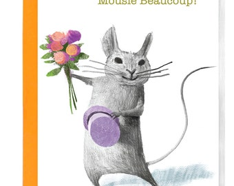 Mousie Beaucoup Boxed Thank You cards - Greeting Cards - Thank you - Stationary - Paper Goods - Unique Gift - Illustration - Animals