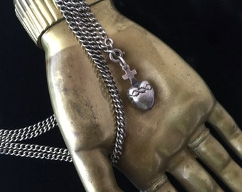 Sacred Heart Charm Pendant