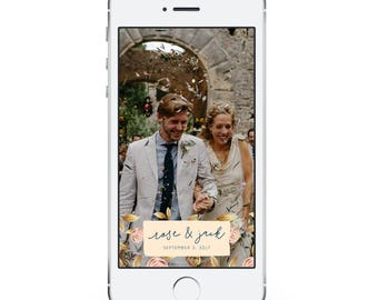 Gold Wedding Snapchat Filter - Wedding Snapchat Geofilter - Custom Geofilter - Snapchat Wedding - Photo Filter