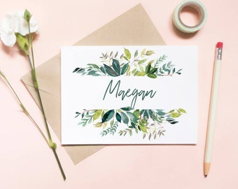 Customized Will You Be My Bridesmaid Card, Maid of honor proposal card, Floral card, watercolor floral, floral frame / SKU: LNBM21