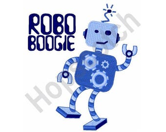 Robo Boogie - Machine Embroidery Design, Robot