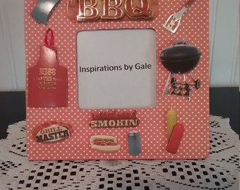 Backyard Barbecue Picture Frame