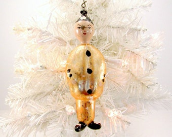 Italian Figural Glass Christmas Ornament Vintage Chinese Man Christmas Decoration Mouth Blown Italian Ornament 1950s