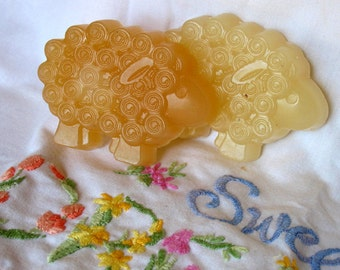 Sheep Soap-- Lavender Honey & Lavender Sheep Soap. Little Lamb Soap Set of 2. Party Favors, Childrens Gifts, Baby Showers,