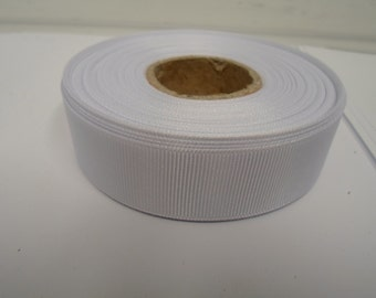 Grosgrain Ribbon 3mm 6mm 10mm 16mm 22mm 38mm 50mm Rolls, White 2, 10, 20 or 50 metres, Ribbed Double sided,